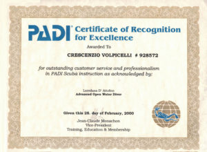 Certificato d'eccellenza